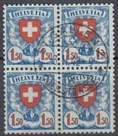 SCHWEIZ 196 Z, 4erBlock, Gestempelt - Schweiz