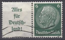 DR W 66, Gestempelt, Hindenburg 1936/37 - Zusammendrucke
