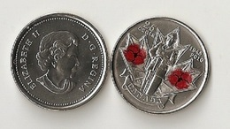 Canada - 25 Cents 2010 UNC Color Remembrance Day Poppy Lemberg-Zp - Canada