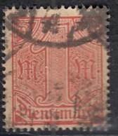 DR Dienst 30, Gestempelt, Geprüft, 1920 - Dienstpost