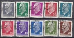 DDR 845-848, 934-938, 1080 Gestempelt, Ulbricht  1961-64 - DDR