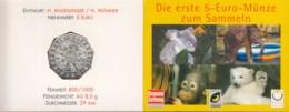 ÖSTERREICH 5-EURO-MÜNZE, 2002, Tiere Im Schönbrunner Tiergarten, Stempelglanz, Battenberg Nr. 291 - Austria