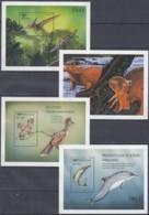 BHUTAN  Block 390-393, Postfrisch **, Prähistorische Und Rezente Tiere 1999 - Bhoutan