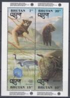 BHUTAN  Block 349, Postfrisch **, 1. Jahrestag Der Gründung Der Nationalen Stiftung Für Umweltschutz, 1993 - Bhoutan