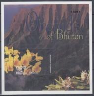 BHUTAN  Block 457, Postfrisch **, Einheimische Orchideen, 2002 - Bhoutan