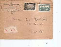 Maroc Français ( Lettre Recommandée De 1938 De Rabat Vers La France à Voir) - Marruecos (1891-1956)