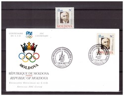 Moldova 1994 Olympics 100 Year IOC MNH + FDC - Olympic Games