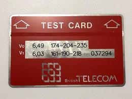 BTT & BTE - TEST CARD BRITISH TELECOM LANDIS & GYR - MV Cards BTT-006 - AS IMAGINES - United Kingdom