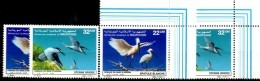 Vögel 1986 Mauretanien 901/2+ER ** 8€ Nationalpark Arguin Löffler Zügel-Seeschwalbe Naturschutz WWF Bird MAURITANIE - Hirondelles