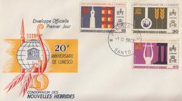Enveloppe FDC  1er Jour   NOUVELLES  HEBRIDES   20éme  Anniversaire  De  L' UNESCO   1966 - FDC