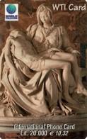 *ITALIA* - WTI CARD (PIETA' DI MICHELANGELO) - Scheda PROTOTIPO - Italy