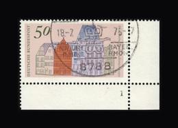 BRD 1975, Michel-Nr. 862, Europäisches Denkmalschutzjahr, Trier, Eckrand Unten Rechts Mit Formnummer 1, Gestempelt, - Gebraucht