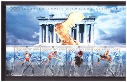Polska 2004 Olympics Athene Boxing Wresting Horse Athletocs S/S MNH - Sommer 2004: Athen