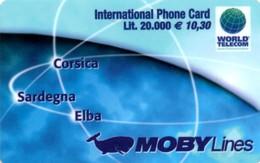 *ITALIA* - WORLD TELECOM - MOBY LINES - Scheda PROTOTIPO - Italia