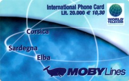 *ITALIA* - WORLD TELECOM - MOBY LINES - Scheda PROTOTIPO - Italy