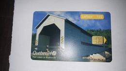 Canada-(pc-que-q10050)-pont Couvert De Routhierville-(38)-(10$)-used Card+1card Prepiad Free - Canada