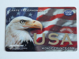 IRADIUM  USA  Carte Glacée  - 100F - 28/02/01 - France