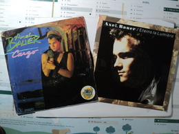 AXEL BAUER. LOT DE DEUX 45 TOURS. 1983 / 1991 868860 7 PG 102 / VG 108 101842. ETEINS LA LUMIERE / SALAM / CARGO. - Vinyles