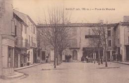 SAULT. PLACE DU MARCHE. EDIT OLIVER- NON CIRCULEE CIRCA 1900s RARE - BLEUP - Francia
