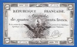 Assignat  De  400  Livres  Du  21/9/1792 - Assignats & Mandats Territoriaux