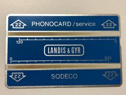 ISRAELE - Bezeq - Test & Service Cards - TEST CARD LANDIS & GYR SODECO - CONTROL CODE: 012G23161 - AS IMAGINE - Israel