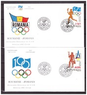 Romania 1994 Olympics FDC 100 Year IOC - Olympic Games