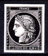 Cérès Un T 0.20 € Non Dentelé, 170 Ans Du Premier Timbre De France 1849/2019 - Nuovi