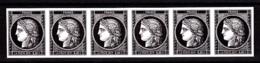 Cérès Bande De 6 X 0.20 €  Non Dentelé, 170 Ans Du Premier Timbre De France 1849/2019 - Frankreich