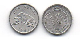 Congo - 10 Sengi 1967 UNC Lemberg-Zp - Congo (Democratische Republiek 1964-70)