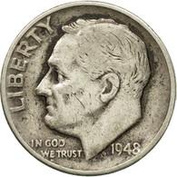 Monnaie, États-Unis, Roosevelt Dime, Dime, 1948, U.S. Mint, Philadelphie, TTB - Émissions Fédérales