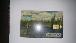 Canada-()-new Tel-(42)-(20$)-tirage-1.500-used Card+1card Prepiad Free - Canada