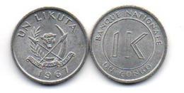 Congo - 1 Likuta 1967 UNC Lemberg-Zp - Congo (Democratische Republiek 1964-70)