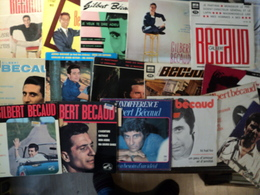 GILBERT BECAUD. LOT DE DOUZE 45 TOURS 4 TITRES ET QUATRE 45 TOURS. 1954 / 1983 LE BAIN DE MINUIT / CHARLIE T IRAS PAS A - Vinyles