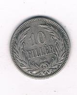 10 FILLER 1892 HONGARIJE /2379/ - Hongrie