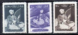 XP4330 - IRAN PERSIA 1958,  Serie Yvert N. 935/937 ***  Roudaki - Iran