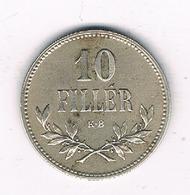 10 FILLER 1915 HONGARIJE /2380/ - Hongrie