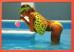 TRY-24 Jeune Femme En Bikini Et Chemisier à Pois . Refreshment. Grand Format Jacques Alexandre 018 - Moda