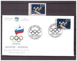 Slovenia 1994 Olympics 100 Year IOC MNH + FDC - Olympic Games