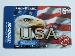 IRADIUM  USA  Carte Mat  -  15 € - 31/12/2004 - France