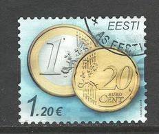 Estland, Mi 807 Jaar 2014, Hogere Waarde, Gestempeld - Estonie