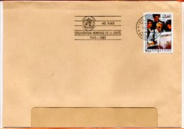 Nations-Unies, Lettre De Genève, Flamme 45 Ans De L'OMS - Genf - Büro Der Vereinten Nationen