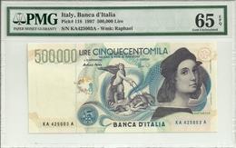 Italy 500000 Lire 1997 P118 Graded 65 EPQ By PMG (Gem Uncirculated) - [ 2] 1946-… : République