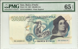 Italy 500000 Lire 1997 P118 Graded 65 EPQ By PMG (Gem Uncirculated) - 500000 Liras