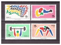 Turkey 1992 Olympics Barcelona Boxing Wrestling Weight-lifring MNH - Zomer 1992: Barcelona