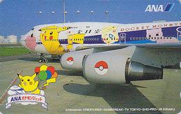 TC Japon / 110-016 - AVION - NINTENDO POKEMON - PICACHU - ANA AIRLINES - Japan Phonecard / Aviation Balloon - 11140 - BD