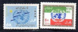 XP4343 - IRAN PERSIA 1963,  Serie Yvert N. 1041/1042 ***  Onu - Iran