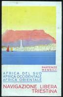 DEPLIANT TURISTICO DEL 1934 NAVIGAZIONE LIBERA TRIESTINA - TRIESTE - PROGRAMMA E PREZZI X SUDAFRICA - Dépliants Touristiques