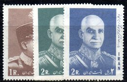 XP4345 - IRAN PERSIA 1966,  Riza Tre Valori Diversi  *** - Iran