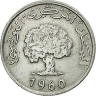Monnaie, Tunisie, Millim, 1960, Paris, TTB+, Aluminium, KM:280 - Tunisie