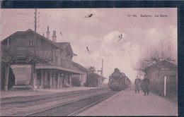 Genève Satigny, Chemin De Fer, La Gare Et Train à Vapeur (15.7.1913) - GE Genf